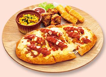 ホットドッグピザ
